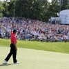In the swing: Tiger back with a shot for the ages