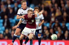 Irish midfielder Doyle-Hayes leaves Aston Villa on season-long loan