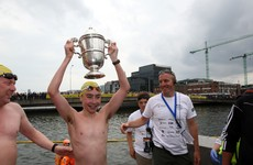 15-year-old from Meath takes first place in the men's Liffey Swim race