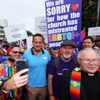 Taoiseach Leo Varadkar marches in Belfast pride parade for the first time