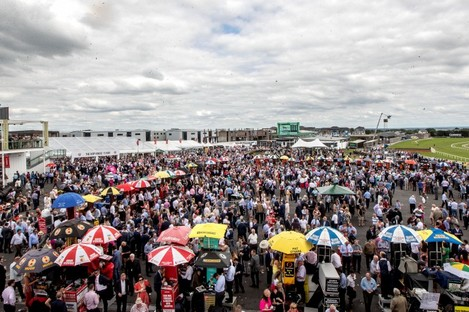 A view of the Galway Races at Ballybrit.