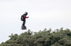 Frenchman uses his jet-powered hoverboard to cross the channel after initial failure
