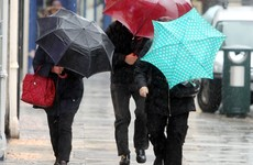 Yellow rainfall warning issued for eight counties due to heavy downpours and risk of flash flooding