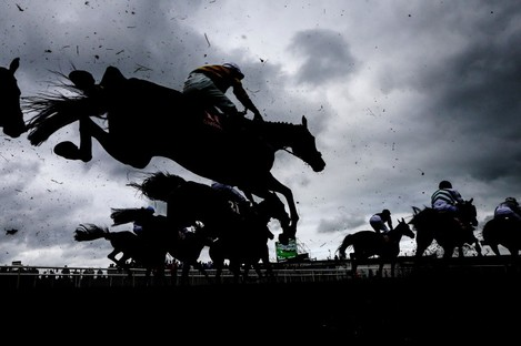 A general view of the Galway Races.