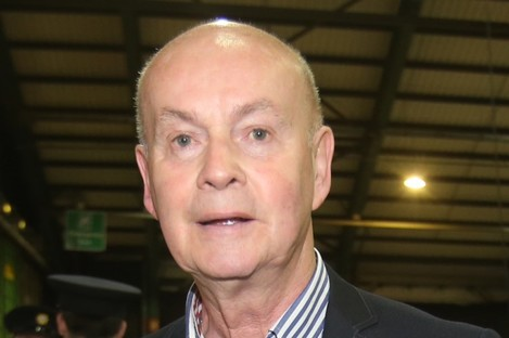 Pat Carey at the Marriage Equality Referendum count centre in the RDS in May 2015.