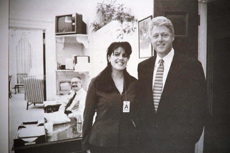Monica Lewinsky pictured with Clinton