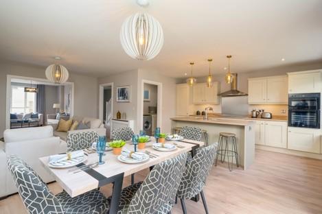 Showhome kitchen at Glenveagh Homes' Cluain Adain in Navan