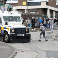 PSNI: Crowds 'cheered' as police officers fell injured in violent clashes over Belfast bonfire