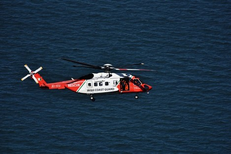 File photo of Irish Coast Guard helicopter. Rescue helicopter 116 was sent to assist in today's operation.