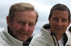 Enda Kenny crewed the winning racing yacht with Bear Grylls in a big royal regatta yesterday