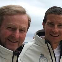 Enda Kenny crewed the winning racing yacht with Bear Grylls in a big royal regatta yesterday