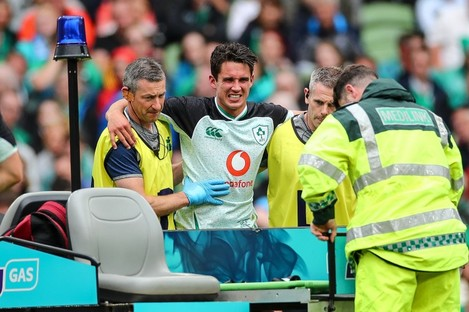 Carbery was in pain coming off.