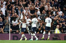 Kane's late double saves Spurs from opening game stumble