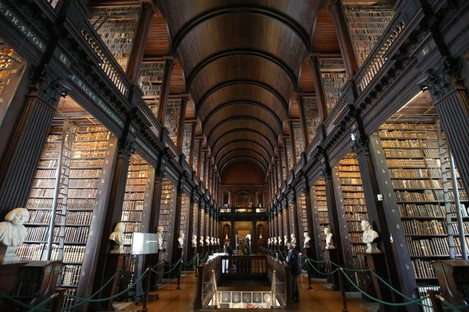 The Long Room in Trinity College Dublin.