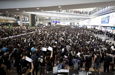 Chaos at Hong Kong airport after all flights cancelled amid massive pro-democracy protests