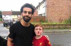 'It was really kind-hearted of him ' - Salah visits young Liverpool fan who ran into lamppost