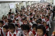 Kim Jong Un addresses mass rally of under-13s