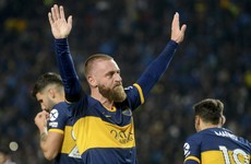 Italy legend De Rossi scores on his debut for Boca Juniors