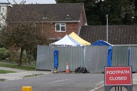 The home of Sergei Skripal on Christie Miller Road in Salisbury, Wiltshire