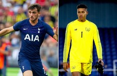 Parrott nets double for Spurs U23s as teenage goalkeeper Bazunu starts in goal for Man City