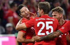 Lewandowski brace spares Bayern's blushes in opening night draw