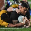 All Blacks issue emphatic response in five-try trouncing of scoreless Wallabies