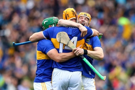 Tipp celebrate at the final whistle - but who was man of the match?