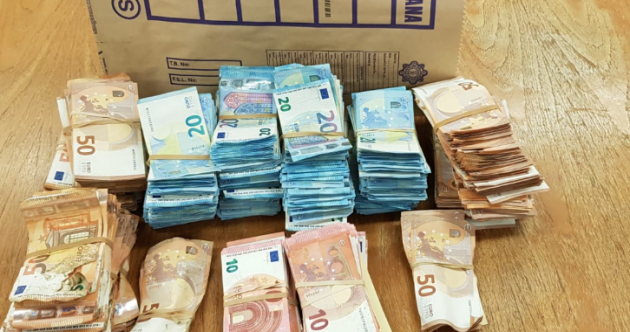 Gardaí seize over €400,000 in cash during investigations into ATM robbery