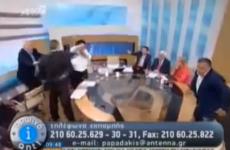 VIDEO: Arrest warrant issued after fight on Greek election TV debate