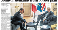 Johnson's 'victory' and a misleading photo: How the UK papers reacted after Boris met Macron