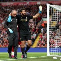 Alisson improving but 'not that close' to Liverpool comeback