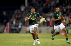 Springbok winger Dyantyi tests positive for banned substance