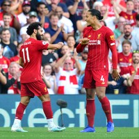 Mohamed Salah grabs a double to help Liverpool overcome Arsenal at Anfield