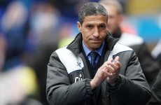 Chris Hughton takes charge at Norwich