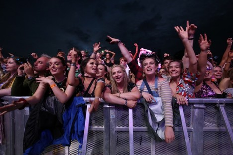 Fans at the festival last year.