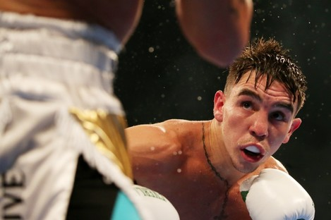 Michael Conlan in action against Diego Alberto Ruiz at Falls Park earlier this month.