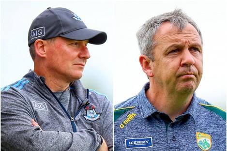 Dublin manager Jim Gavin and Kerry boss Peter Keane.