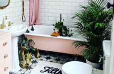 'I love that it isn't your typical bathroom': Laura shares a space filled with cheerful salvage finds