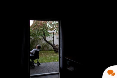 A patient in a wheelchair at a hospice (File photo)