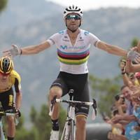 Valverde wins mountain-top Vuelta finish but Lopez regains red