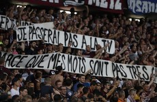 PSG game halted over homophobic banner