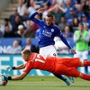 Jamie Vardy double fires Leicester to victory while Palace beat 10-man Villa