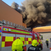Large fire at Cork shopping centre brought under control overnight