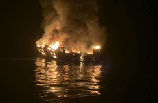 Dive boat sinks in flames off California coast with 34 missing and many feared dead