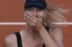 Sharapova celebrates top spot with room service