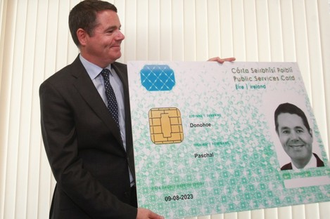 Minister Paschal Donohoe promoting the card in 2016.