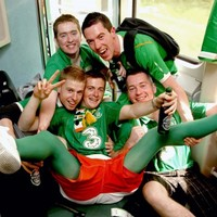 In pictures: Irish fans head for Poland by plane, trains and automobile