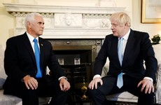 Johnson tells Pence that the UK has a 'gigantic chlorinated chicken' on the opposition benches