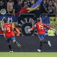 Sergio Ramos on target as Spain maintain 100% record
