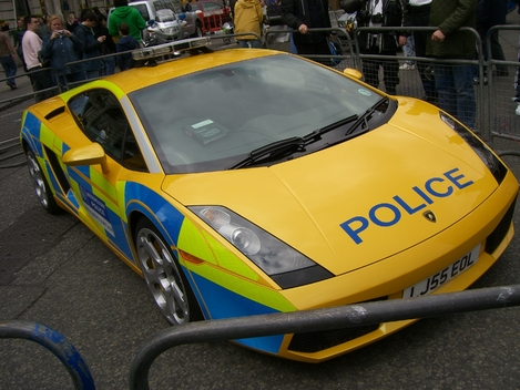 Ironically, police in the UK - where Senior Constable Michael Brent is originally from - are sometimes given Lamborghini Gallardoes to drive.